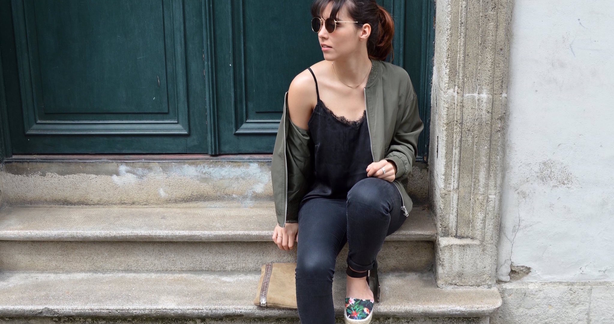 BOMBER WITH ESPADRILLES CACHE-CACHE