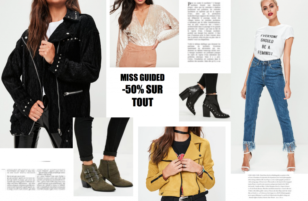SELECTION SHOPPING MISS GUIDED -50% !