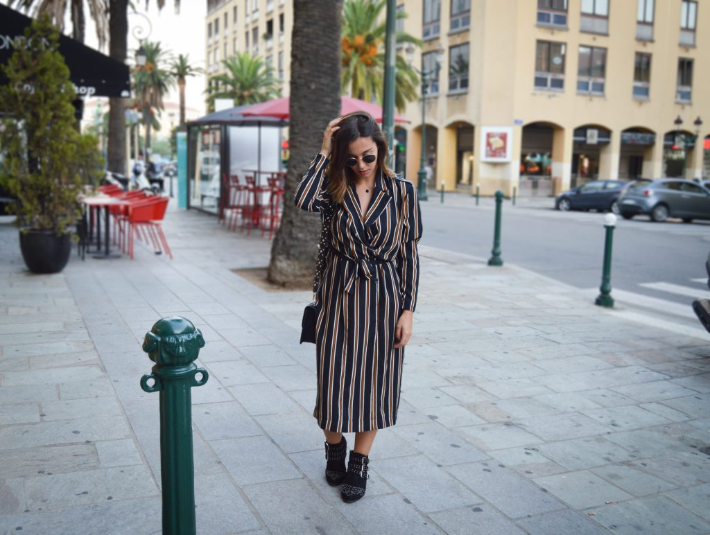LONG STRIPED DRESS – L'ADRESSE CORTE